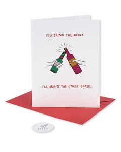 bring booze holiday card