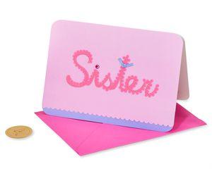 Scalloped Sister Birthday Greeting Card