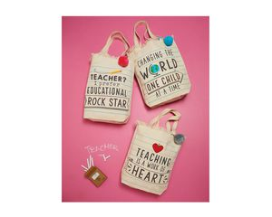 Mud Pie Teaching is a Work of Heart Canvas Tote Bag