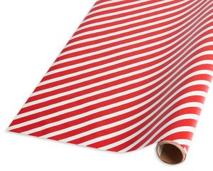 Christmas Wrapping Paper, Santa and Candy Canes on Blue, 45 sq. ft.