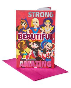 DC Super Hero Girls Valentine's Day Card