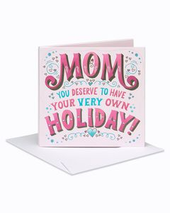 Holiday Mother's Day Card
