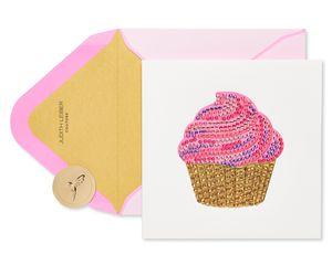 Gem Cupcake Birthday Greeting Card