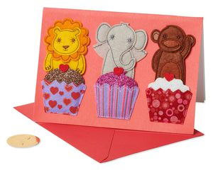 Animals Valentine's Day Greeting Card