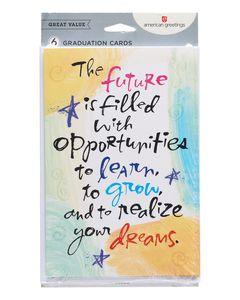 Future Graduation Card, 6-Count