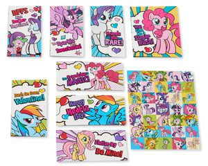 My Little Pony Magical Valentine's Day Exchange Cards with Stickers,, 32-Count
