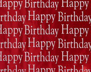 Red Happy Birthday Wrapping Paper, 15 Sq. Ft.