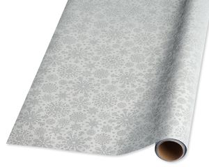 Silver Holiday Wrapping Paper
