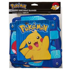 Pokémon Birthday Party Banner, Party Supplies
