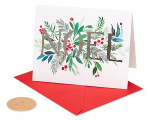 Noel and Holly Holiday Boxed Cards, 20-Count