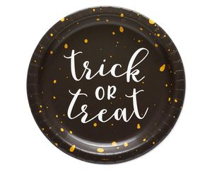 Halloween Trick or Treat Paper Dinner Plates, 8-Count