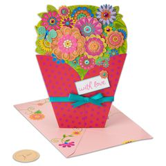 Bouquet Birthday Greeting Card