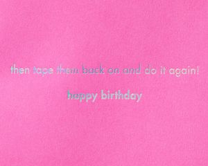 Pom Pom Panda Funny Birthday Greeting Card
