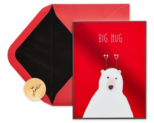 Bear Hug Valentine's Day Greeting Card