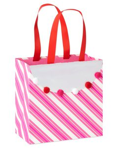 Medium Valentine's Day Gift Bag, Stripes, 1-Count