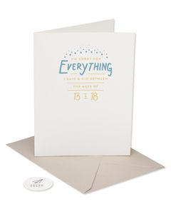 sorry for those years mother's day card