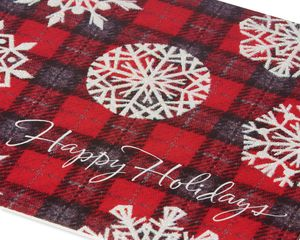 Deluxe Plaid Snowflakes Christmas Boxed Cards and Red Envelopes, 14-Count