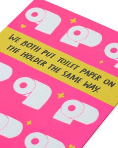 Toilet Paper Valentine's Day Card