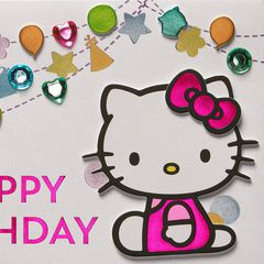 Hello Kitty Birthday Greeting Card