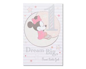 minnie mouse 1st birthday card
