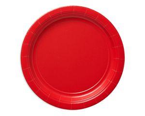 bright red dessert round paper plate 20 ct