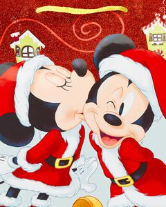 Medium Mickey and Minnie Christmas Gift Bag