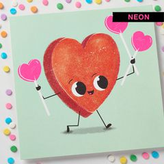 Candy Heart Valentine's Day Cards, 6-Count