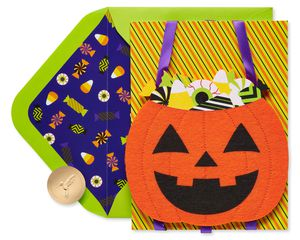 Candy Bucket Halloween Greeting Card