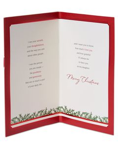 Loving Thoughts Christmas Card for Daughter