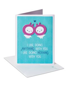 Anything and Nothing Anniversary Card