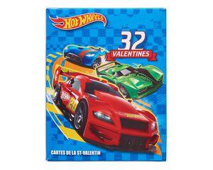 hot wheels school valentine's day cards, 32 ct