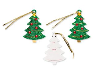 Gem Trees Holiday Tags