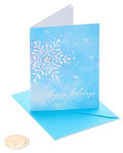 Snowflake Christmas Greeting Card