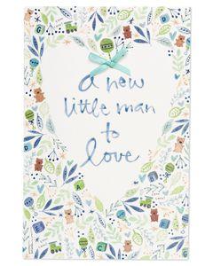Kathy Davis Little Man Baby Congratulations Card