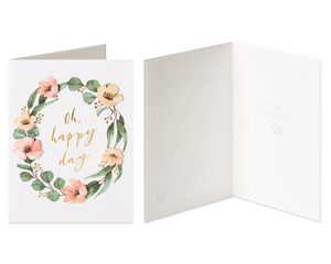 Bouquet and Wreath Wedding Greeting Card Bundle, 2-Count