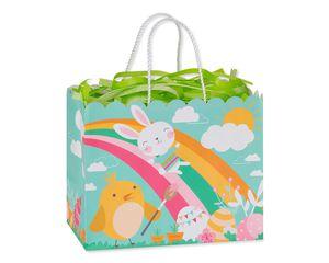 Medium Easter Rainbow Bunny with Tissue Shred