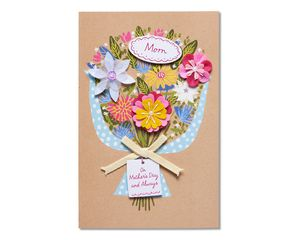 bouquet mother's day card