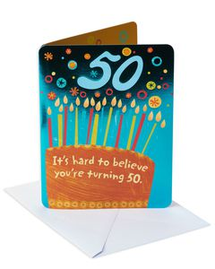 Hard to Believe 50th Birthday Card