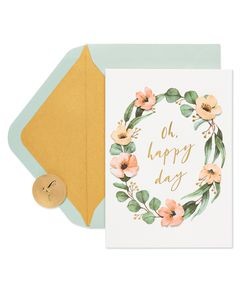 Happy Day Bridal Shower Greeting Card
