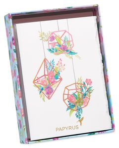 Floral Terranium Boxed Cards and Envelopes, 8-Count