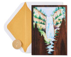 Woodland Silhouette Birthday Greeting Card