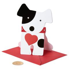 Die Cut Dog Valentine's Day Greeting Greeting Card