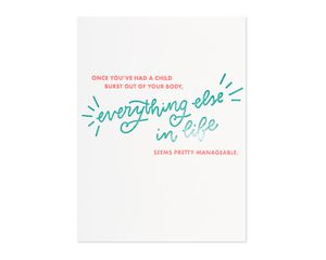burst out of your body mother's day card