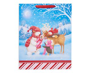large winter friends christmas gift bag