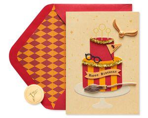 Harry Potter Cake Birthday Greeting Card