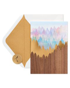 Scenic Mountain Thinking of You Blank Greeting Card