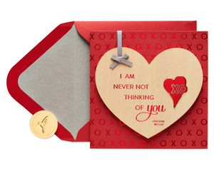 Wood Heart with Quote Romantic Greeting Card