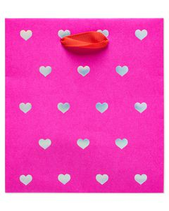 Small Valentine's Day Gift Bags, Pink, 6-Count