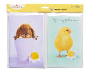 bunny and chick easter cards, 6-count