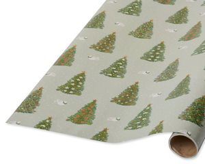 Pine Trees and Doves Christmas Wrapping Paper